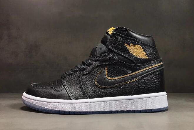 All-Star Air Jordan 1 High OG Los Angeles Black/Metallic Gold-Summit White 555088-031