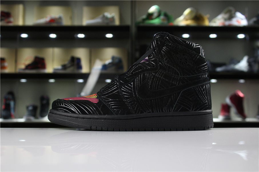 Cheap Air Jordan 1 LHM Pomb Los Primeros Black/Multi-Color-Black AH7739-001
