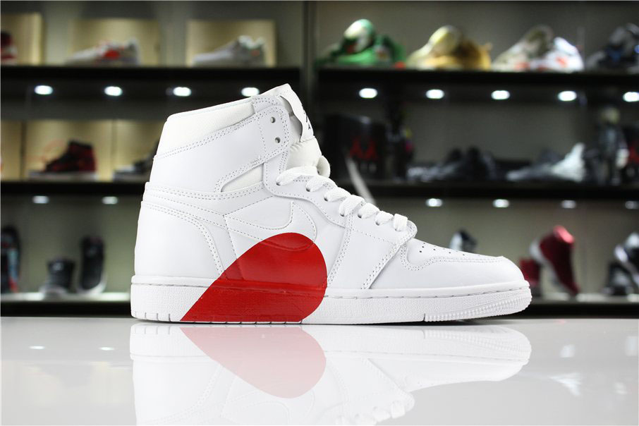 New Air Jordan 1 High White/Half Heart Women's and Men's Size For Sale