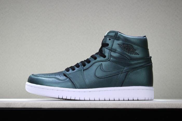 New Air Jordan 1 High Chameleon Dark Green/Black-White 2018 Free Shipping