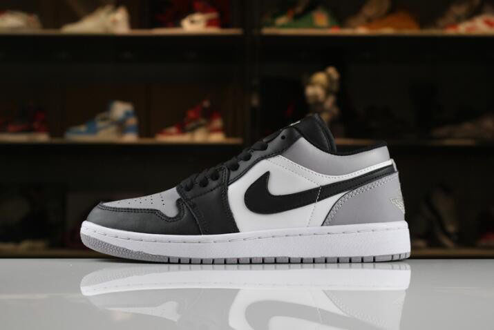 New Air Jordan 1 Low White/Atmosphere-Black 553558-110