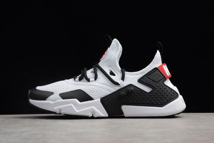 Men's Nike Air Huarache Drift BR White/Black-Red Running Shoes AO1133-103