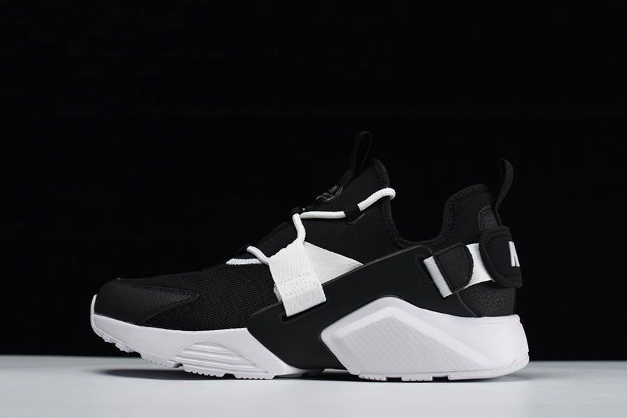 Men's and Women's Nike Air Huarache City Low Casual Shoes Black/White AH6804-002