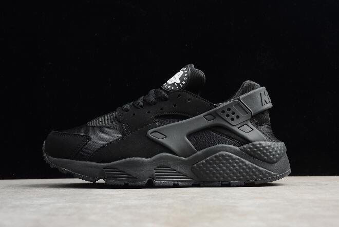 Men's and Women's Nike Air Huarache Run Triple Black 318429-003