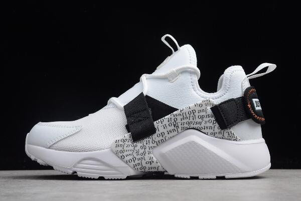 Nike Air Huarache City Low PRM Just Do It White/Black-Total Orange AO3140-100