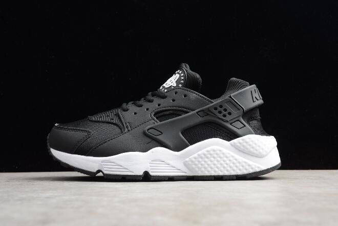 Men's and Women's Nike Air Huarache Run Black/White 634835-006
