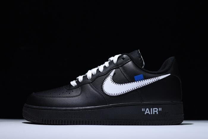 2018 Off-White x Nike Air Force 1 '07 Black White Men's Size AA5122-001
