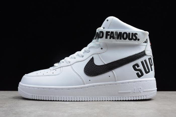 Supreme x Nike Air Force 1 High White 698696-100 Men's and Women's Size
