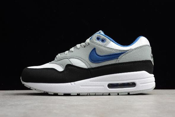 Men's Nike Air Max 1 Gym Blue White/Gym Blue-Light Pumice-Black AH8145-102