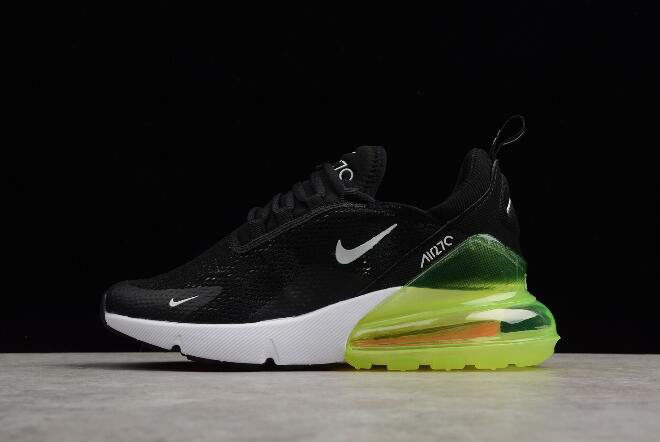 Men's and Women's Nike Max 270 Black/Volt-White AH6789-115