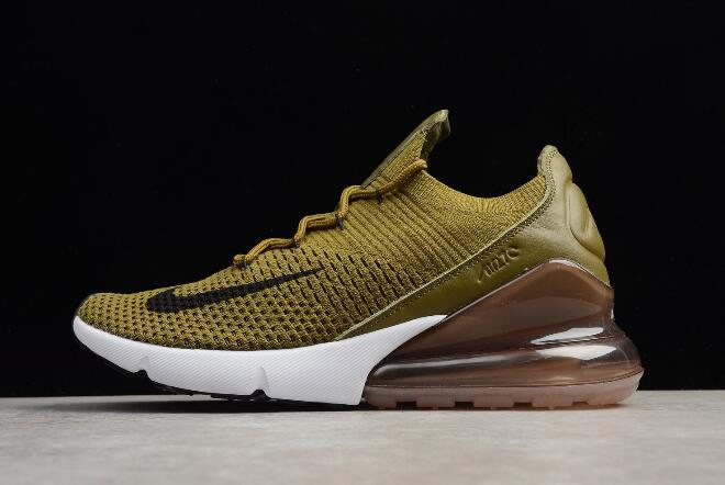 Nike Air Max 270 Flyknit Olive Flak Army Green/Black-Coffee White AO1023-300