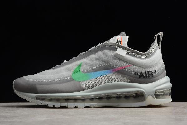 2018 Off-White x Nike Air Max 97 White/Green Men's and Women's Size AJ4585-012