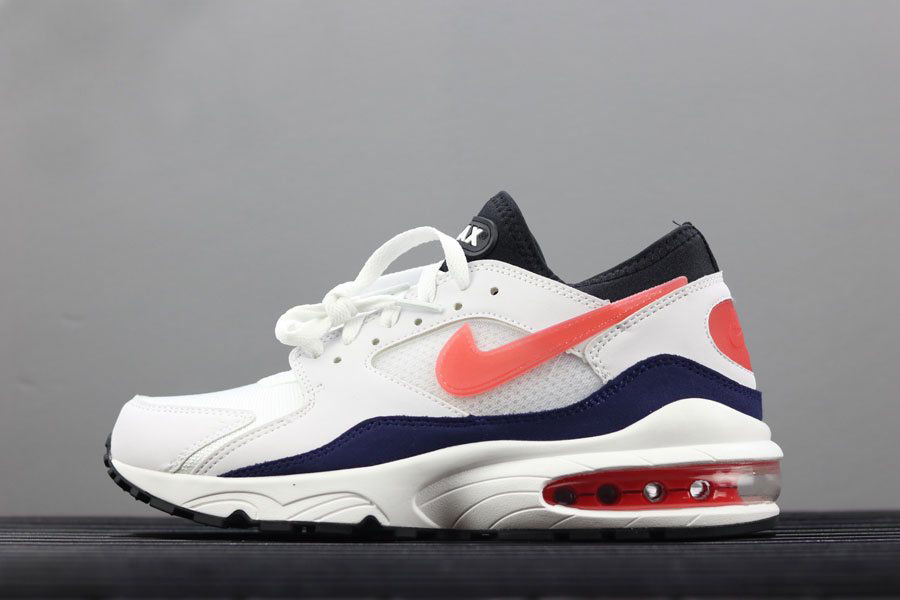 Men's Nike Air Max 93 OG Flame Red White/Habanero Red-Neutral Indigo-Black 306551-102