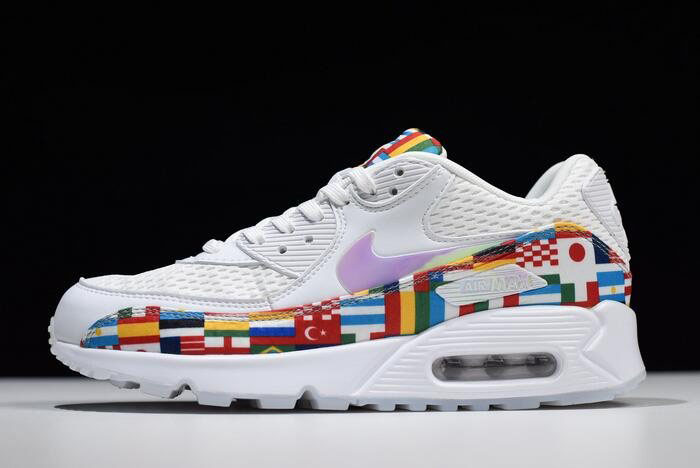 Nike Air Max 90 NIC QS International Flag White/Multi-Color AO5119-100
