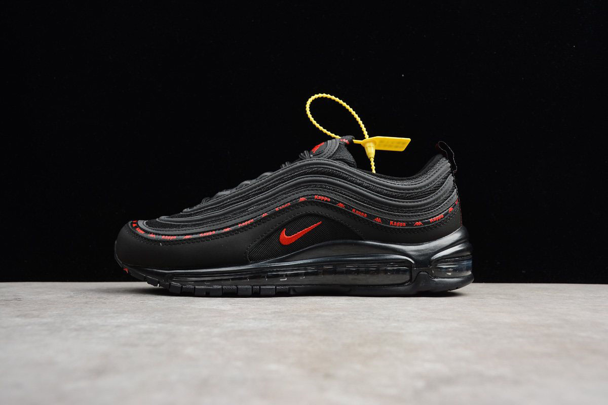 Mens and WMNS Kappa x Nike Air Max 97 OG Black Red AJ1986-004 For Sale