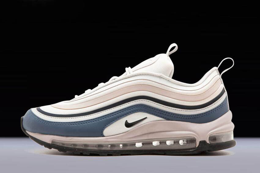 Mens and WMNS Nike Air Max 97 Ultra Grey Obsidian Rose 917704-006