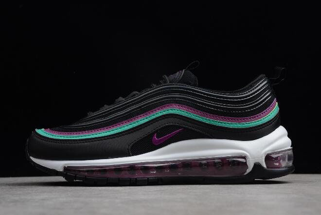 Womens Nike Air Max 97 Black Grape Black/Bright Grape-Clear Emerald 921733-008