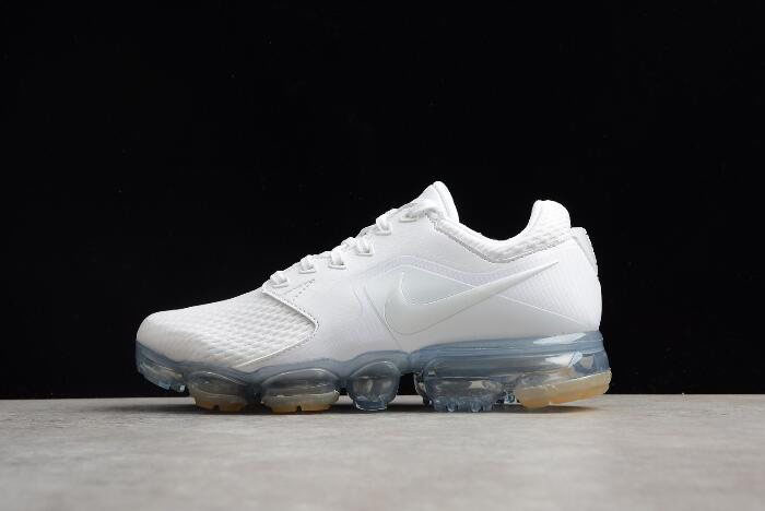 Women's Nike Air VaporMax White/White-Metallic Silver Running Shoes AH9045-101
