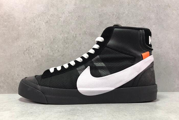 Supreme x OFF-White x Nike Blazer Mid Black/White AA3832-001
