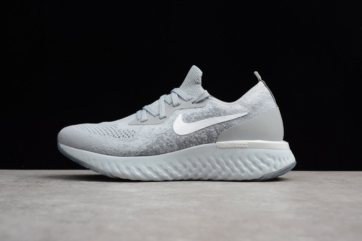 Nike Epic React Flyknit Wolf Grey/Cool Grey/Pure Platinum/White Running Shoe AQ0070-002