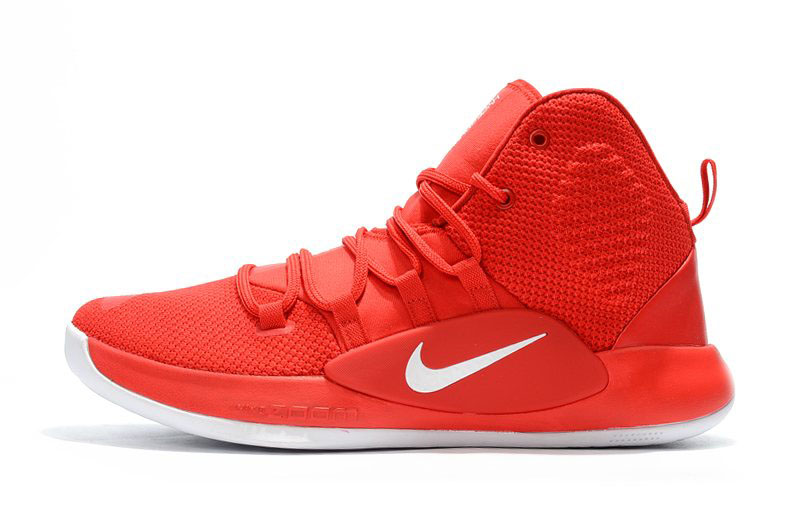 2018 Nike Hyperdunk X University Red/White Men's Basketball Shoes