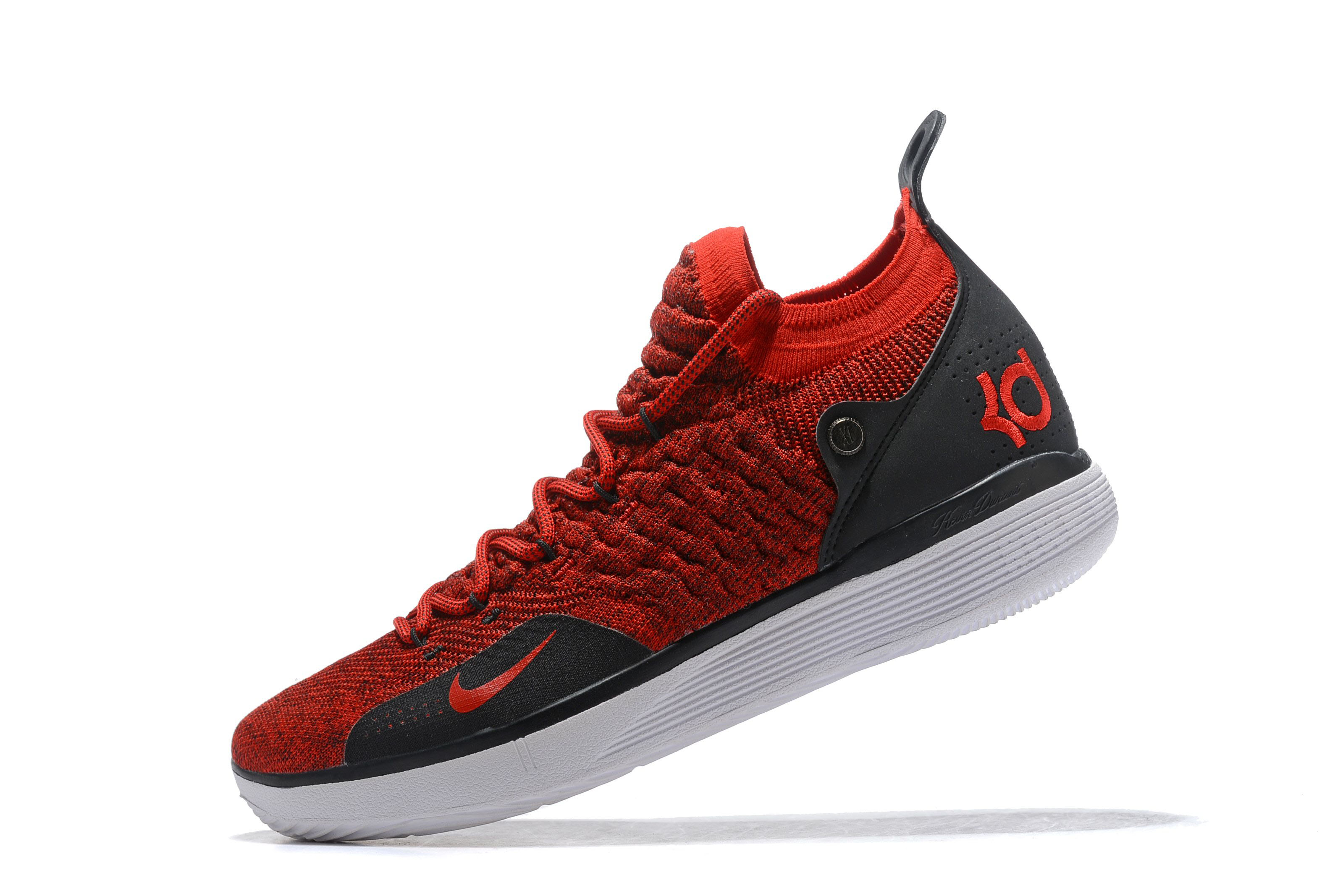 Men's Nike KD 11 Red Black White 2018 For Sale