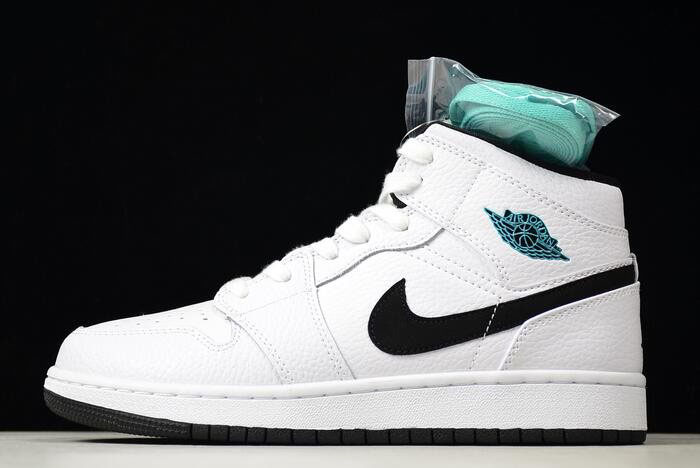Air Jordan 1 Mid GS Hyper Jade White/Black-Hyper Jade 554725-122