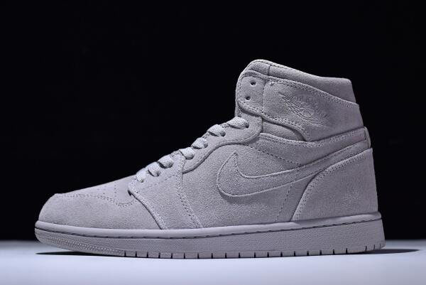 New Air Jordan 1 Retro High Wolf Grey Suede 332550-031 For Sale