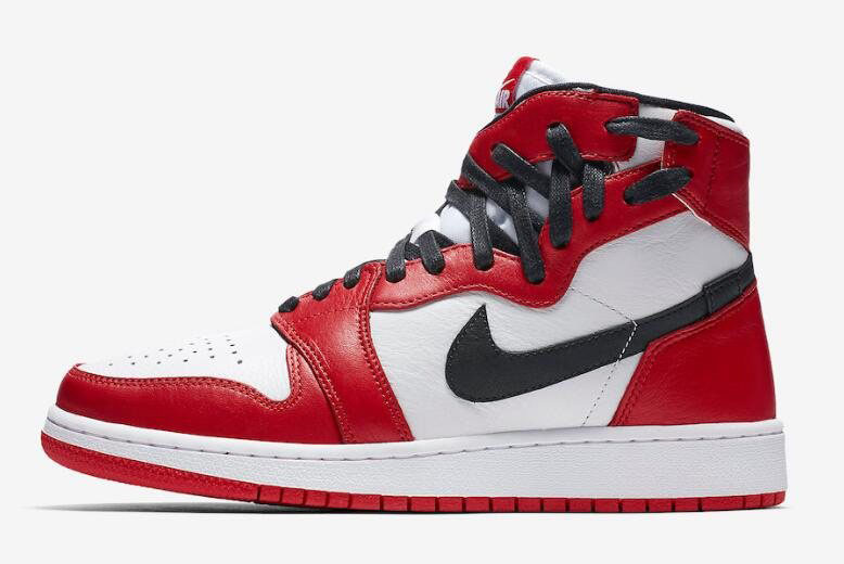 Women's Air Jordan 1 Rebel Chicago White/Varsity Red-Black AT4151-100