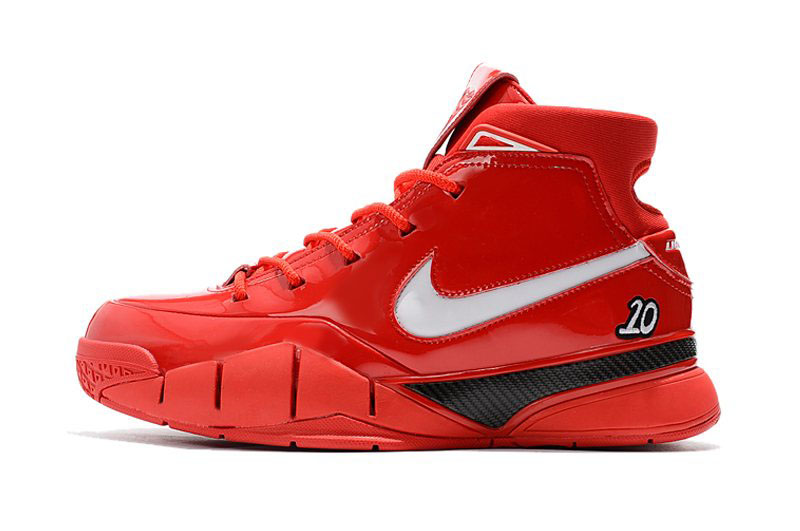 Men's Nike Zoom Kobe 1 Protro Demar Derozan PE Red/White-Black Shoes