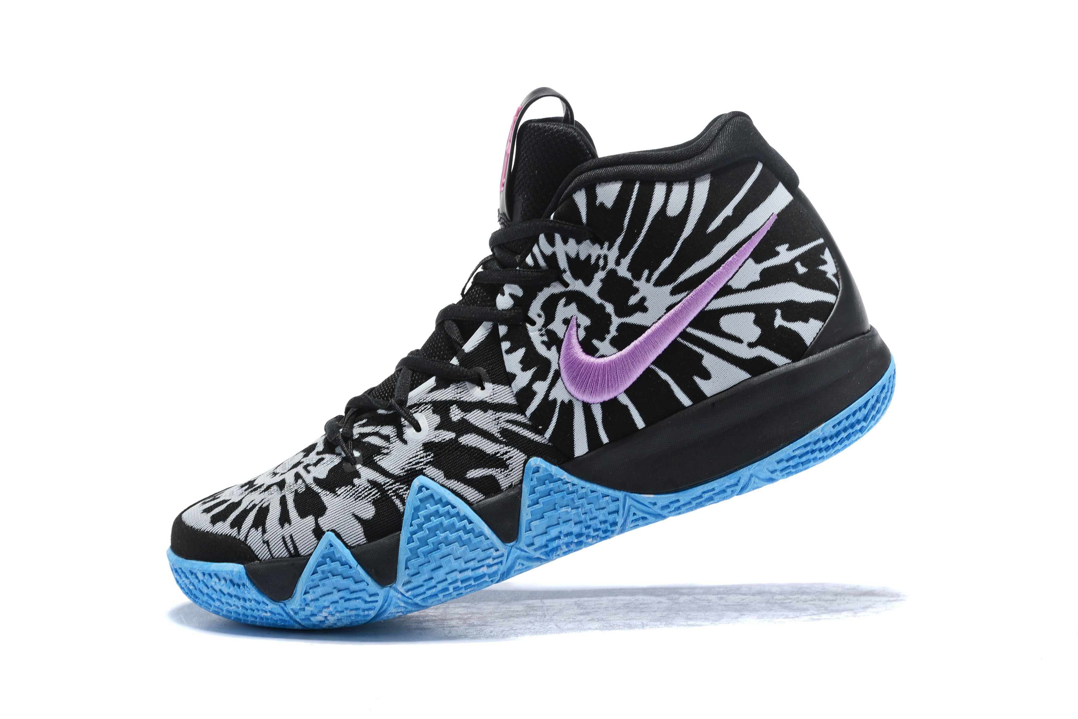 All-Star Nike Kyrie 4 Tie Dye Black/White/Blue/Pink AQ8623-001
