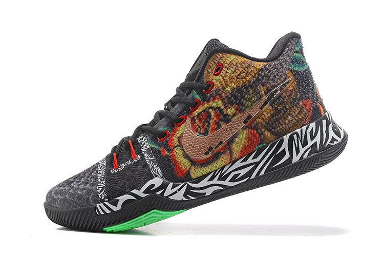 Men's Nike Kyrie 3 Rattlesnake Basketball Shoes