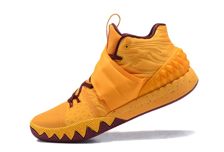 Nike Kyrie S1 Hybrid Cavs Yellow/Wine Red Basketball Shoes
