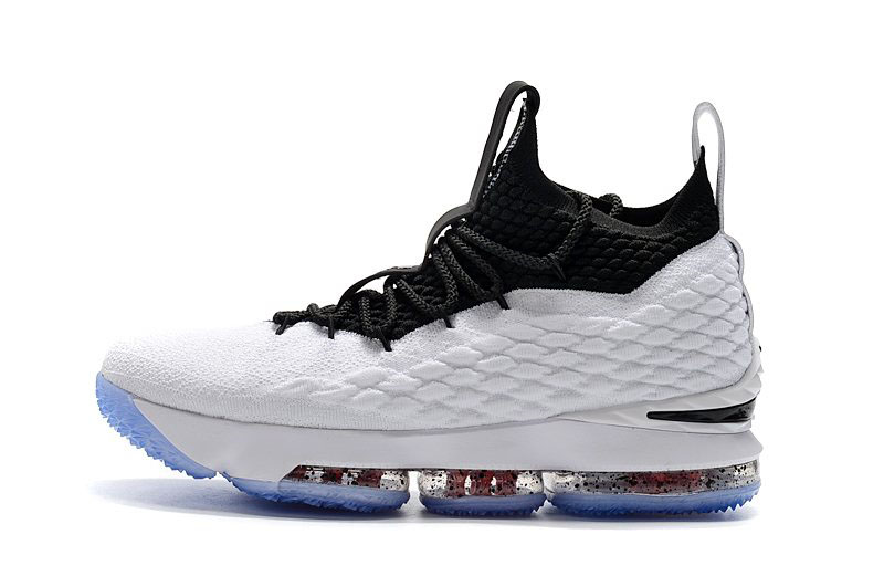Men's Nike LeBron 15 Graffiti White/Black-University Red AQ2363-100