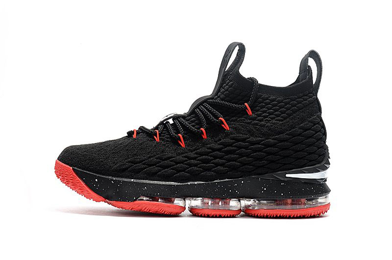 Nike LeBron 15 Black/Red Men's Basketball Shoes