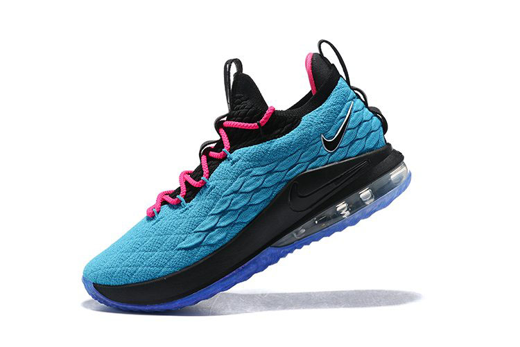 Nike LeBron 15 Low South Beach Teal/Pink-Black Men's Basketball Shoes
