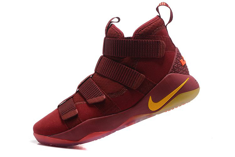 Nike LeBron Soldier 11 Cavs PE Wine Red/Gold For Sale