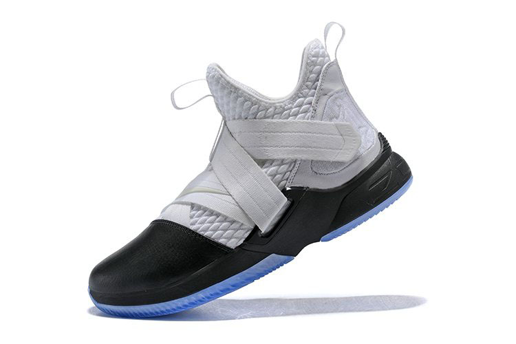 Nike LeBron Soldier 12 White/Black Men's Basketball Shoes