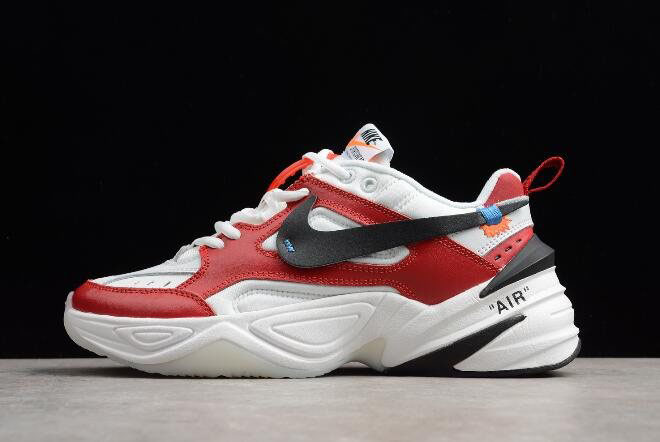 2018 Off-White x Nike M2K Tekno Red White Black A03108-060