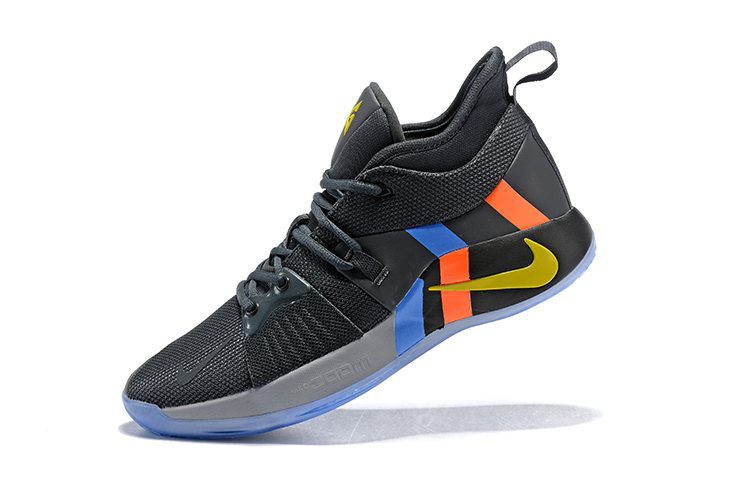 Nike PG 2 PE Black/Metallic Gold/Grey/Orange/Blue For Sale