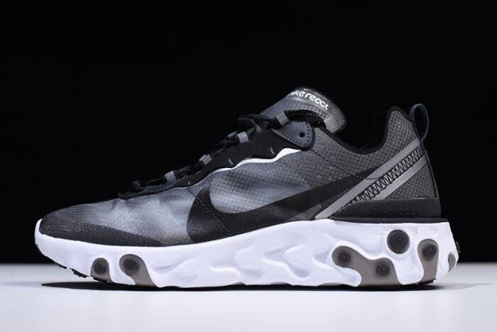 Cheap Nike React Element 87 Anthracite/Black-White AQ1090-001 Free Shipping