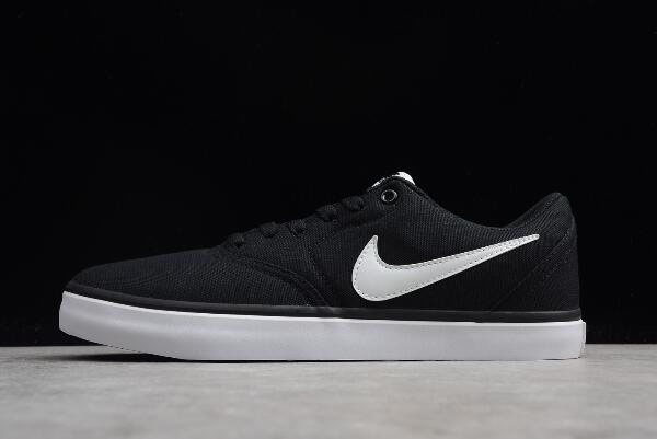 Nike SB Check Solar Canvas Black/White Skateboarding Shoes 843896-001