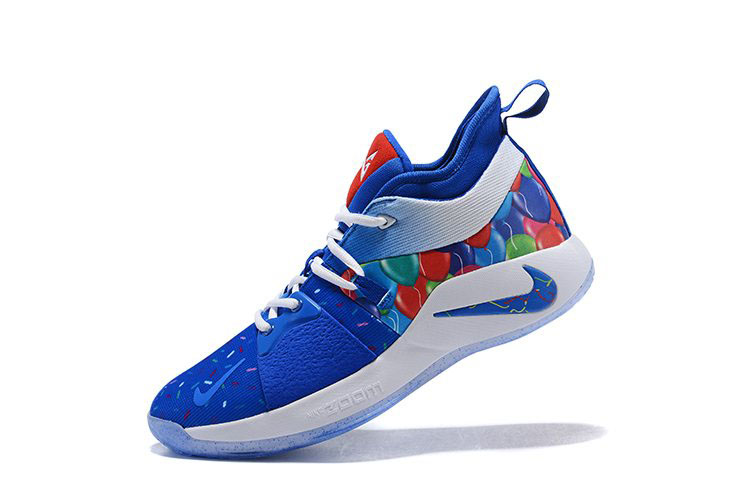 2018 Paul George Nike PG 2 Celebrate Birthday Blue/Multi-Color