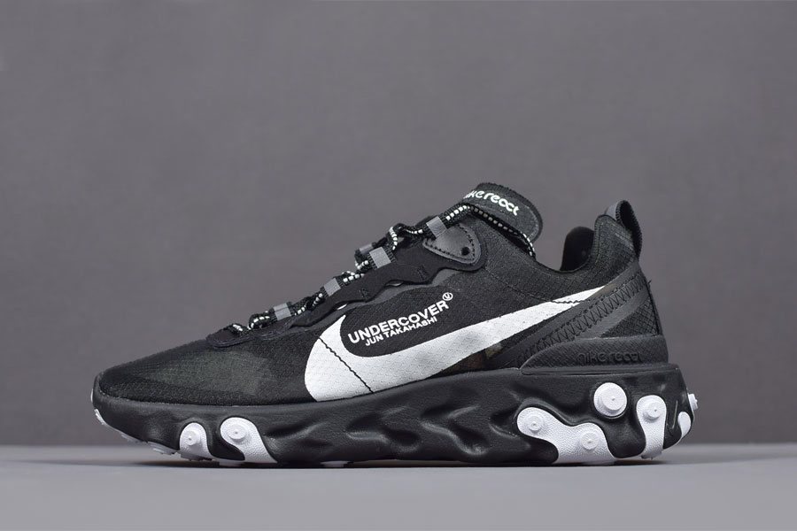 Undercover x Nike React Element 87 Black/White Running Shoes AQ1813-001