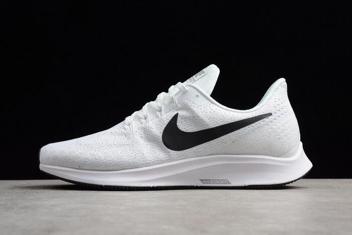Men's and Women's Nike Air Zoom Pegasus 35 White/Black-Volt AO3939-100