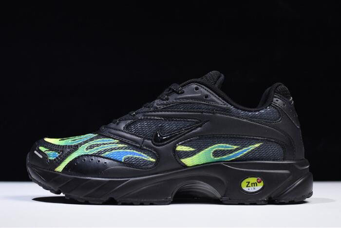 Supreme x Nike Zoom Streak Spectrum Plus Black/White-Volt AQ1279-001 For Sale