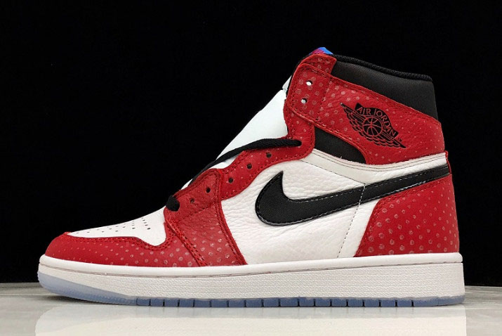 "Air Jordan 1 Retro High OG ""Origin Story"" Gym Red/Black-White-Photo Blue 555088-602"