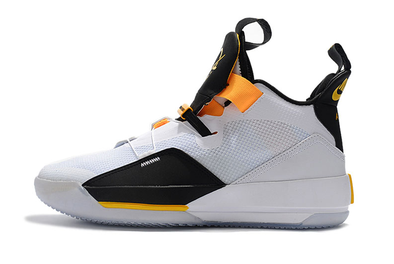 "Air Jordan 33 ""Oladipo PE"" White/Black-Yellow"