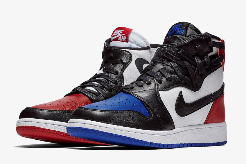 "Women's Air Jordan 1 Rebel ""Top 3"" White/Black-Varsity Red-Varsity Royal AT4151-001"