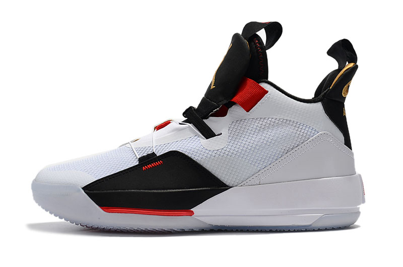 "Air Jordan 33 ""Future of Flight"" White/Metallic Gold/Black-Vast Grey AQ8830-100"